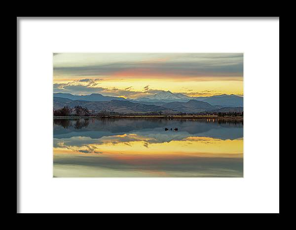 Scenic Framed Print featuring the photograph Marvelous Mccall Lake Reflections by James BO Insogna
