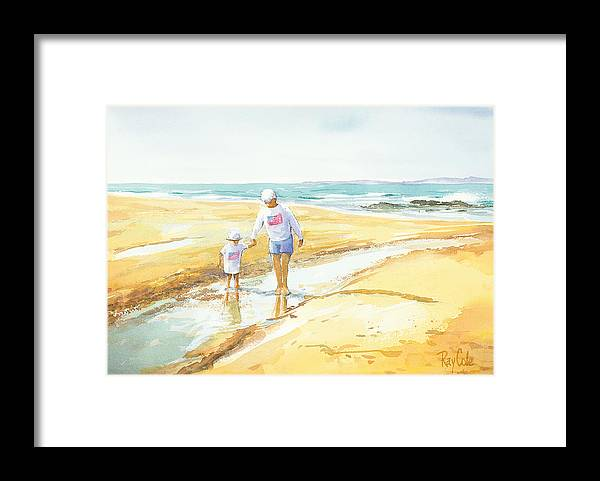 Grandma And Grandaughter Walking Framed Print featuring the painting Mary and Sophia by Ray Cole