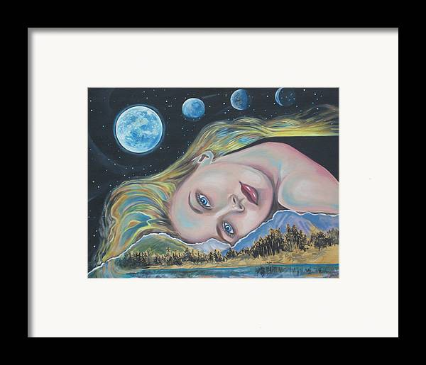 Portrait Framed Print featuring the painting Mary by Diann Baggett