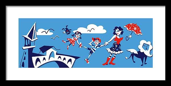 Mary Poppins Framed Print featuring the digital art Mary Poppins - Campanile Rialto Venezia by Arte Venezia