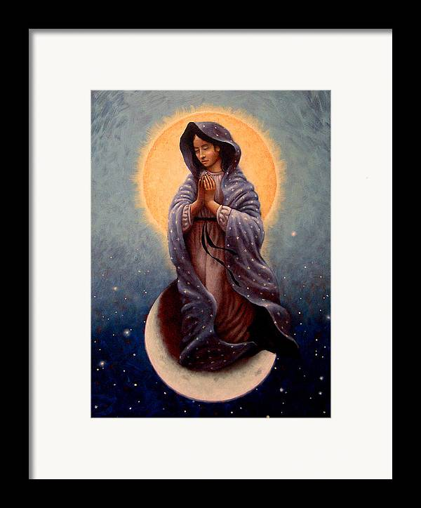 Mary Framed Print featuring the painting Mary Queen Of Heaven by Timothy Jones