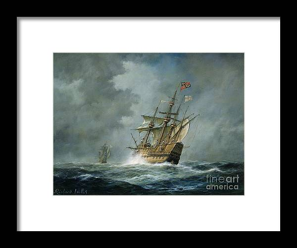 Mary Rose Framed Print featuring the painting Mary Rose by Richard Willis