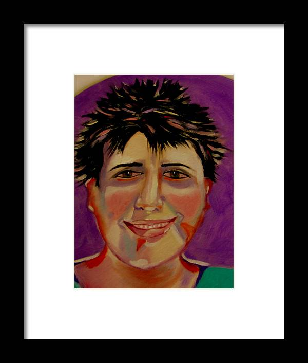 Faces Framed Print featuring the painting Maryline by Rusty Gladdish