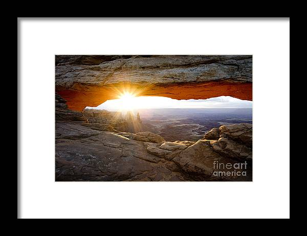 Canyonlands Framed Print featuring the photograph Masa Acrh Sunburst by Greg Clure