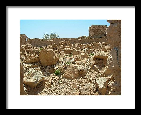 Israel Framed Print featuring the photograph Masada I by Susan Heller