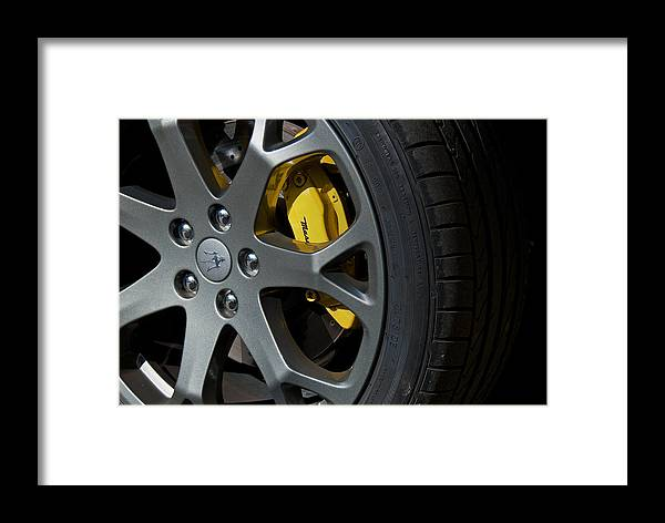 Maserati Framed Print featuring the photograph Maserati Wheel by Artin Mikaelyan