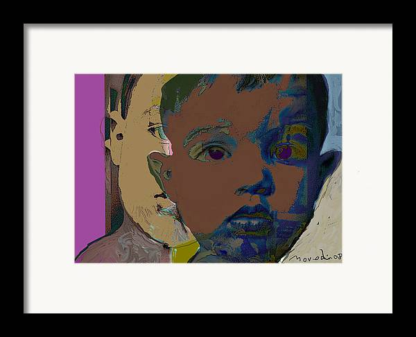 Portrait Framed Print featuring the digital art Mask 11 by Noredin Morgan