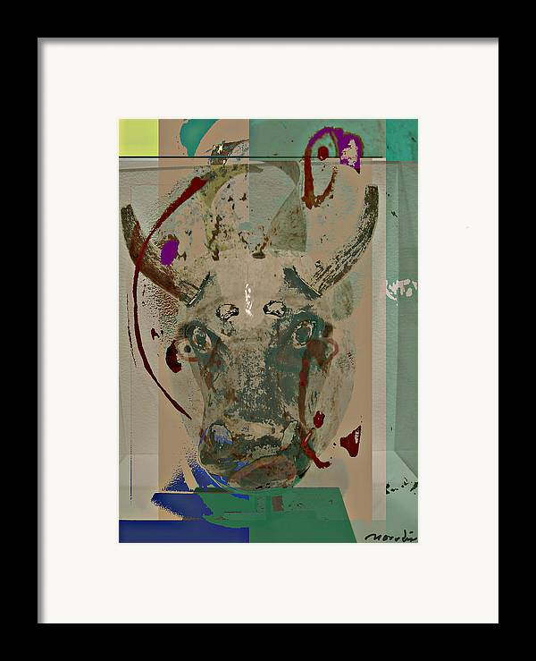 Abstraction Framed Print featuring the mixed media Mask 21 by Noredin Morgan
