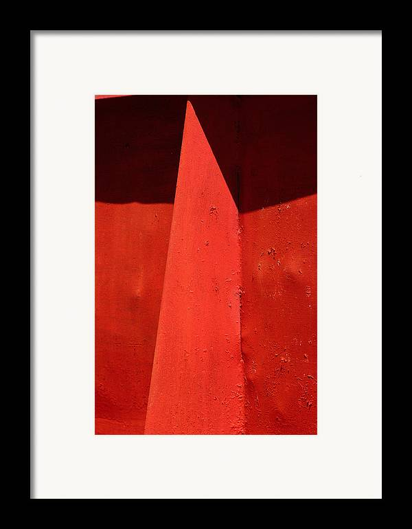 Red Framed Print featuring the photograph Mask by Art Ferrier