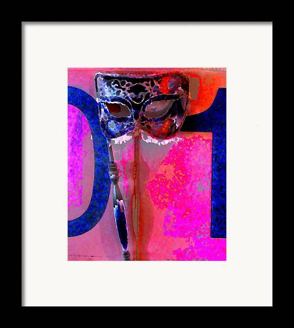 Framed Print featuring the digital art Mask by Danielle Stephenson
