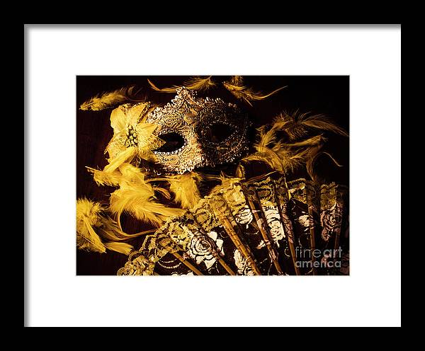 Gold Framed Print featuring the photograph Mask Of Theatre by Jorgo Photography - Wall Art Gallery