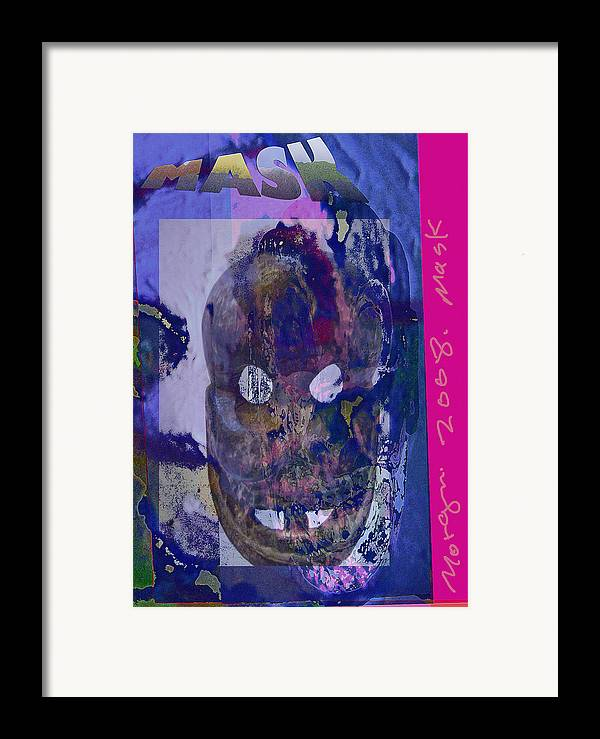 Mask Framed Print featuring the painting Mask2 by Noredin Morgan