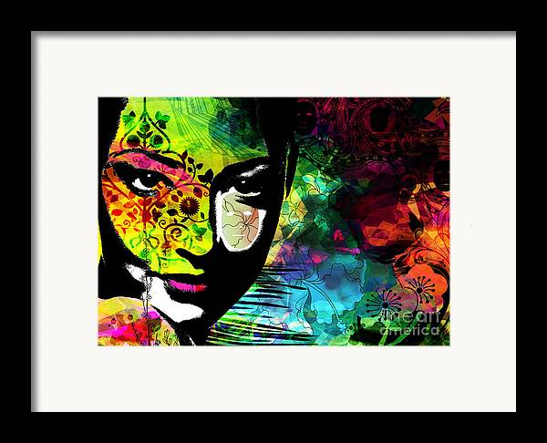 Emotions Mask Ego Framed Print featuring the digital art Masking Ego by Ramneek Narang