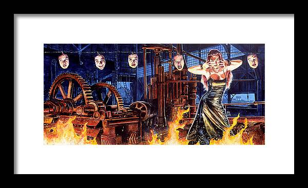 Fantasy Framed Print featuring the painting Masks by Ken Meyer jr