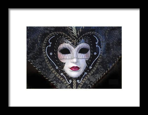 Venetian Masque Mask Framed Print featuring the photograph Masque by Jon Daly