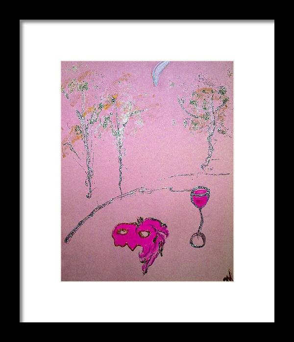 Cityscape Framed Print featuring the painting Masquerade At Cafe Rose by Michela Akers