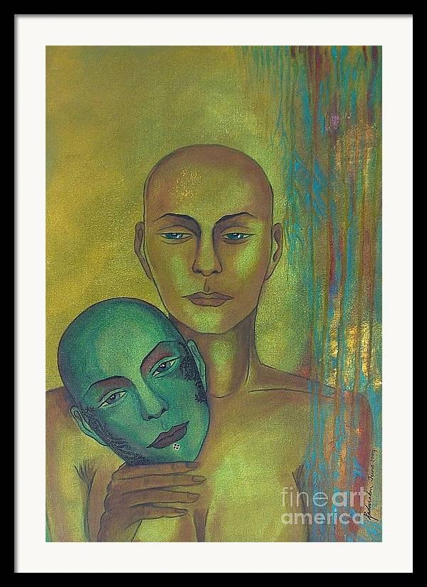 Figurative Framed Print featuring the painting Masquerade by Padmakar Kappagantula