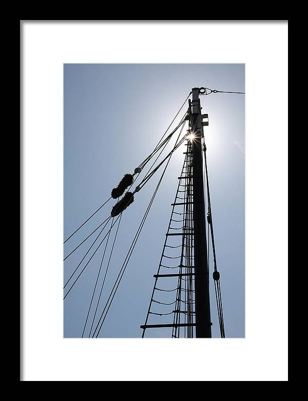 Mast Framed Print featuring the photograph Mast by Paul Tokarchuk
