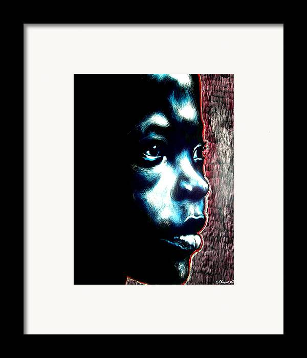 Framed Print featuring the mixed media Master Blue by Chester Elmore