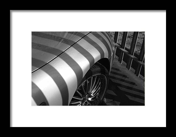 Jez C Self Framed Print featuring the photograph Matching Stripes by Jez C Self