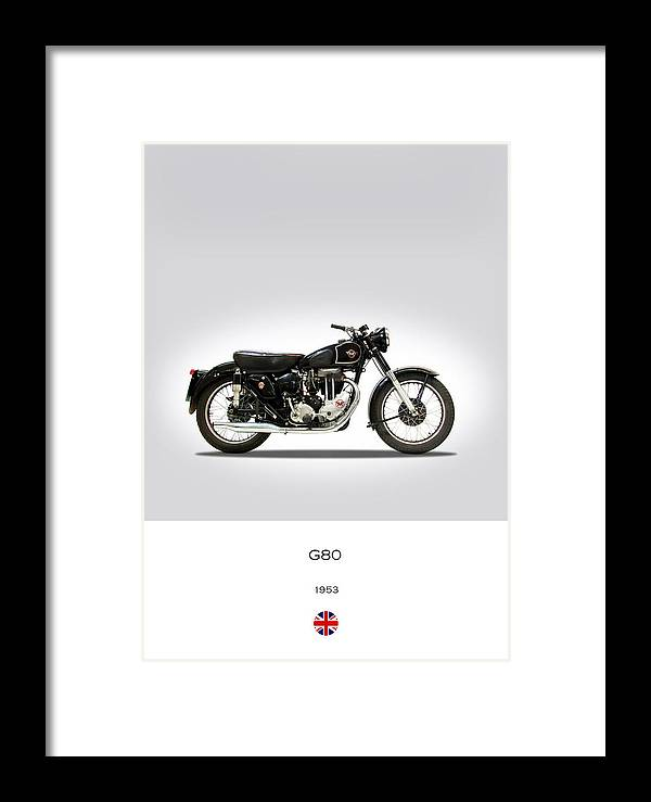 Matchless G80 Framed Print featuring the photograph Matchless G80 1953 by Mark Rogan