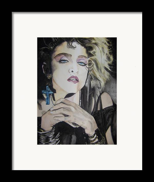 Madonna Framed Print featuring the painting Material Girl by Lance Gebhardt