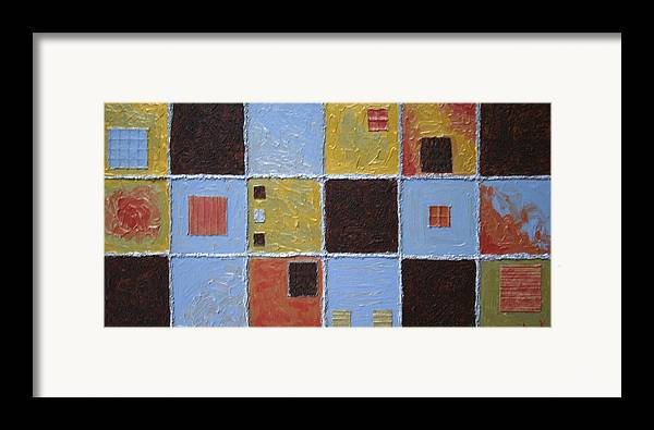 Collage Framed Print featuring the painting Material World by Amy Parker