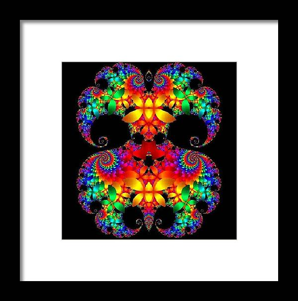 Digtal Graphics Framed Print featuring the digital art Math Art by Cathy Blake