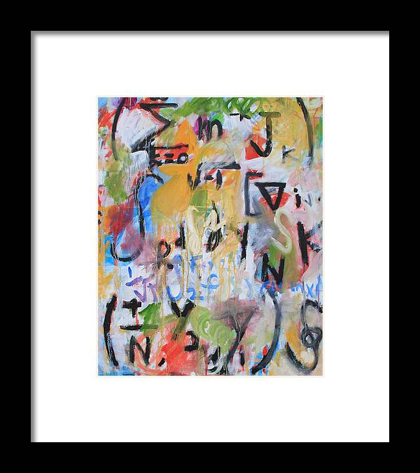 Math Framed Print featuring the painting Math III by Michael Henderson