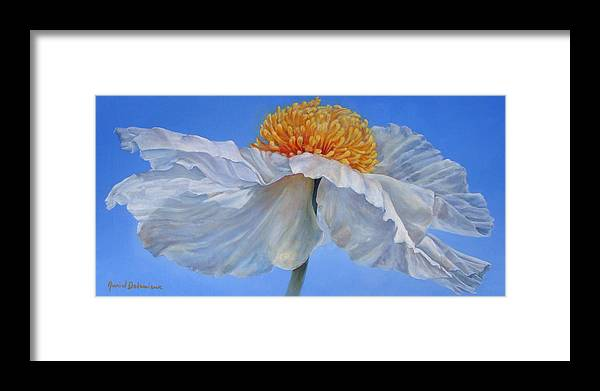Floral Painting Framed Print featuring the painting Matilla 2 by Muriel Dolemieux