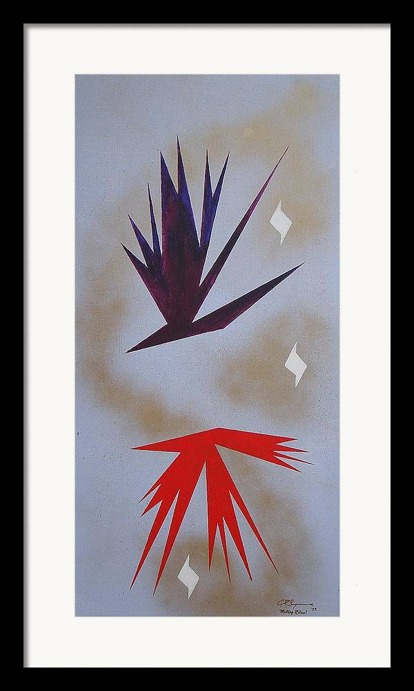 Birds Framed Print featuring the painting Mating Ritual by J R Seymour