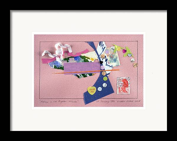 Collage Framed Print featuring the mixed media Matisse In Los Angeles by Eileen Hale
