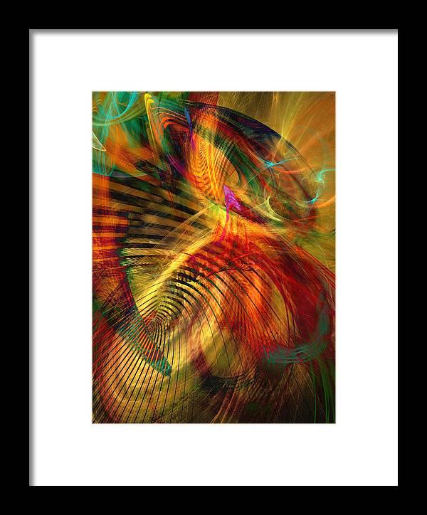 Fractal Framed Print featuring the digital art Matrix by Helene Kippert
