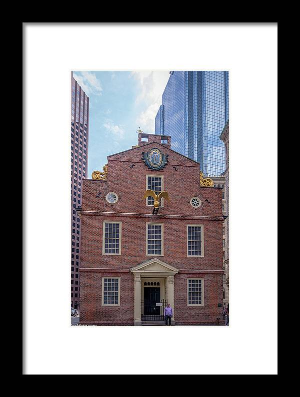 The Old State House In Boston Framed Print featuring the photograph 22- Matt V. Group At The Old State House In Boston, Massachusetts On August 26, 2016 by Jean-Louis Eck