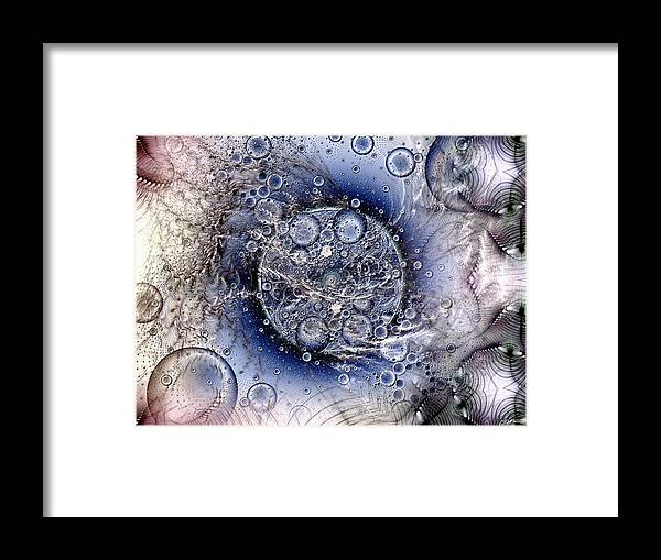 Abstract Framed Print featuring the digital art Matter From Another Perspective by Casey Kotas
