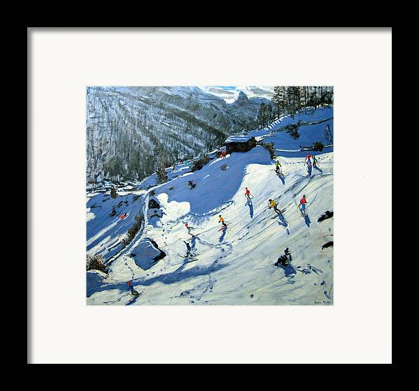 Alps Framed Print featuring the painting Matterhorn by Andrew Macara