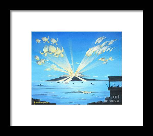 Maui Framed Print featuring the painting Maui Magic by Jerome Stumphauzer