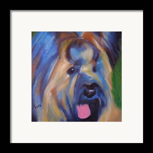 Briard Framed Print featuring the painting Maverick by Kaytee Esser