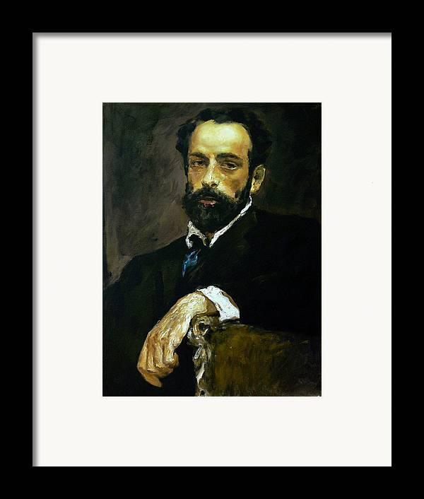 Man Framed Print featuring the painting mavloVserov by Valeriy Mavlo