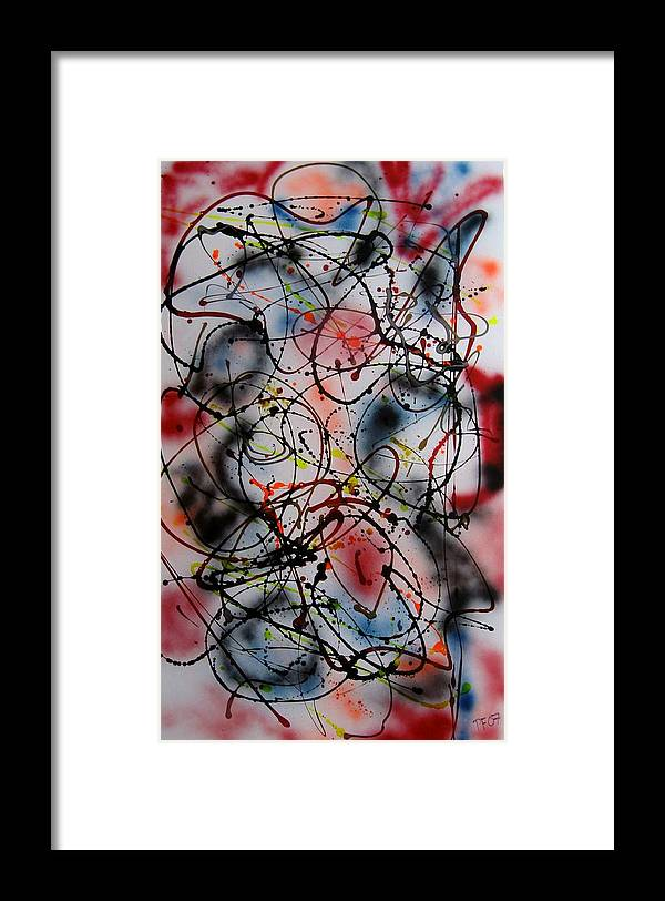 Abstract Framed Print featuring the painting Max by Paul Freidin