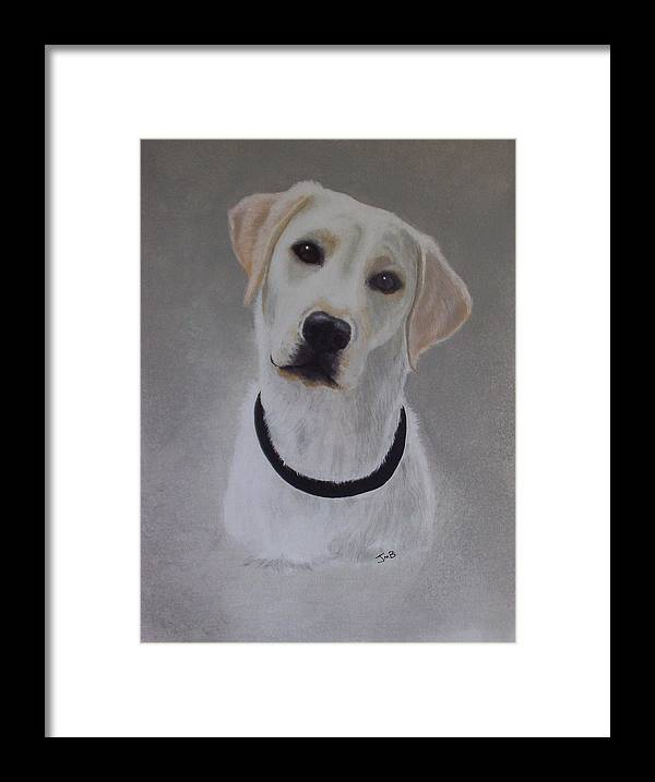 Pet Portrait Framed Print featuring the painting Maxie by Janice M Booth