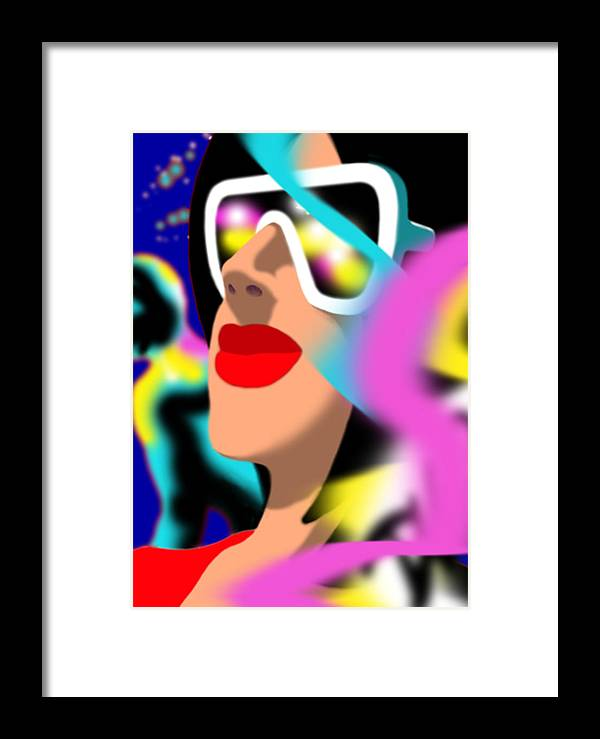 Dkzn Framed Print featuring the digital art Maxine Midnight by Tom Dickson