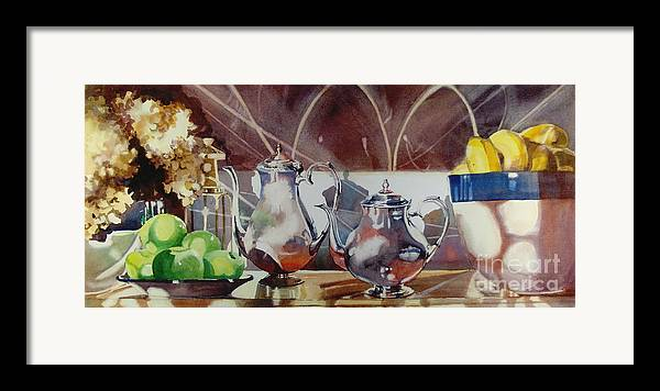 Still Life Framed Print featuring the painting May I Have This Dance by Elizabeth Carr