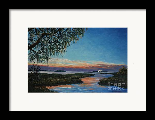 Sunset Framed Print featuring the painting May River Sunset by Stanton Allaben