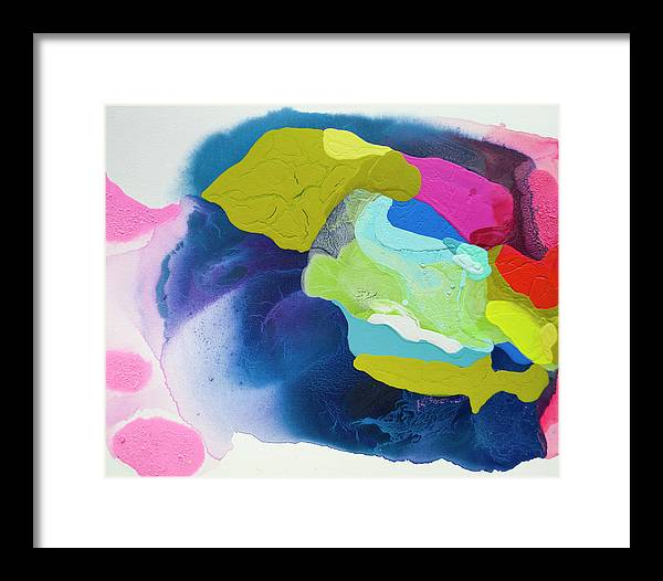Abstract Framed Print featuring the painting Maya 02 by Claire Desjardins