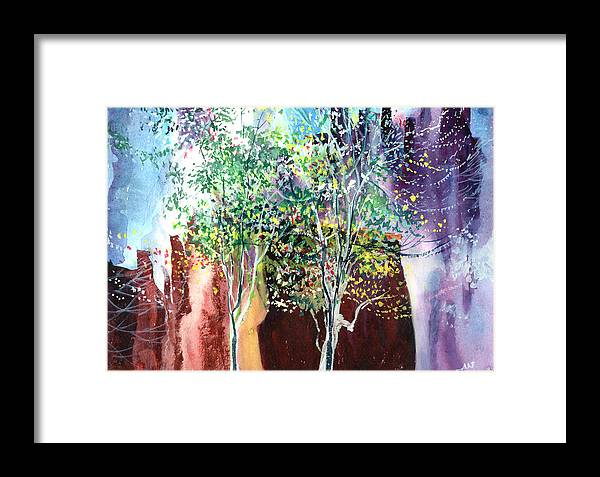 Nature Framed Print featuring the painting Maya by Anil Nene