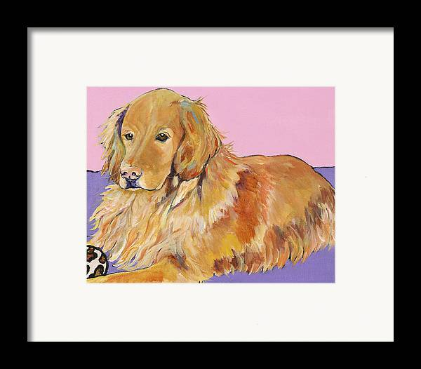 Golden Retriever Framed Print featuring the painting Maya by Pat Saunders-White