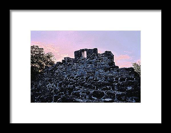 Ruins Framed Print featuring the photograph Mayan Ruins In Cozumel Mexico by Thomas Firak