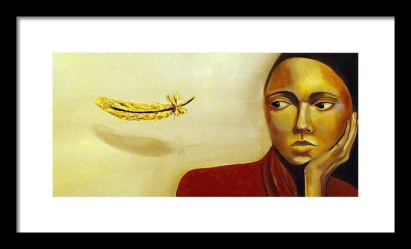 Portrait Framed Print featuring the painting Maybe Angels by Niki Sands
