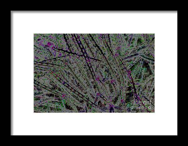 Abstract Framed Print featuring the digital art Maybe by S Cyr